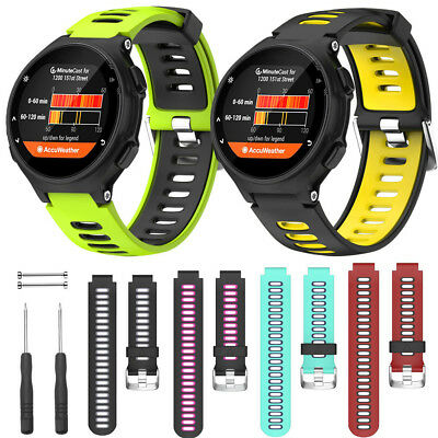 Soft Silicone Strap Replacement Watch Band For Garmin Forerunner 735XT Watch UK
