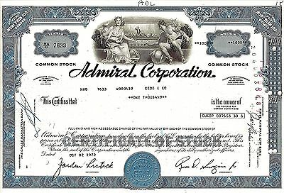 Admiral Corporation, Delaware 1972  (1.000 Shares)