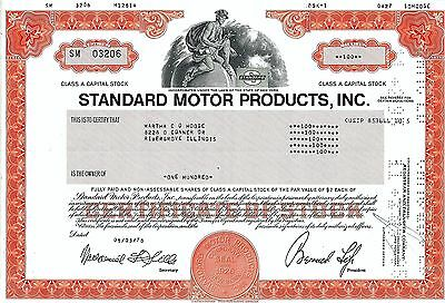 Standard Motor Products Inc., New York, 1978 (100 Shares Class A)