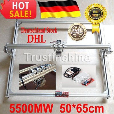 5500MW 5.5W Mini Desktop Laser Engraving Machine 50X65CM DIY Logo Printer