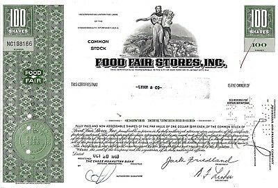 Food Fair Stores Inc., Pennsylvania, 1969 (100 Shares)