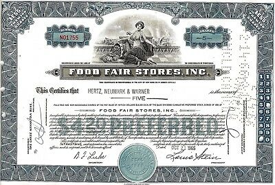 Food Fair Stores Inc., Pennsylvania, 1965 (5 Shares $ 4.20 Preferred) blau