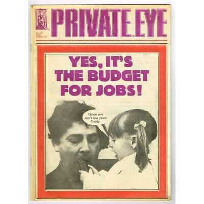 Private Eye Magazine March 22 1985 MBox3083/C No 607 Yes, It's the budget for jo