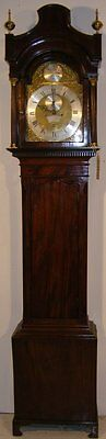 Good Quality Antique 19Th Century Mahogany Longcase Grandfather Clock