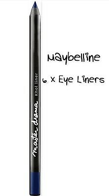6 x Maybelline  Master Drama Eye Liner Shade Blue Horizon Pack of 6 Eye Liners