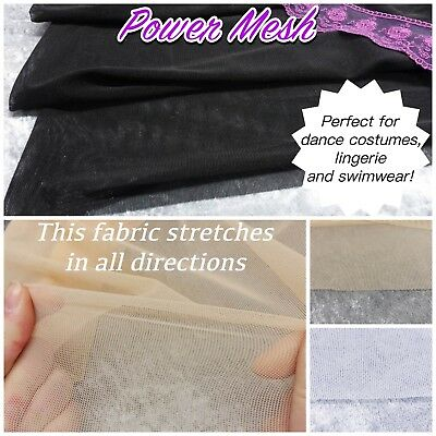 Dance Costume Fabric Pink Sheer STRETCH Power Mesh 1m x150cm