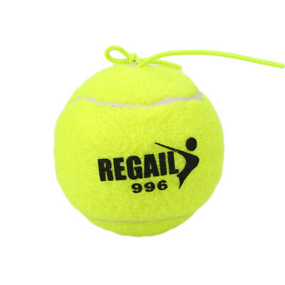 Tennis Ball With String Rope Trainer Training Practice Vanilla Green Universal