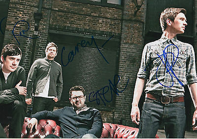 Music Entertainment Memorabilia Datarock Band Full Signed 8x12 Inch Photo Autographs