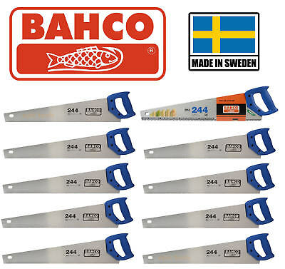 "10 x BAHCO 22""/550mm 244 Hardpoint 7TPI Universal Wood/Timber Cutting Hand Saw"