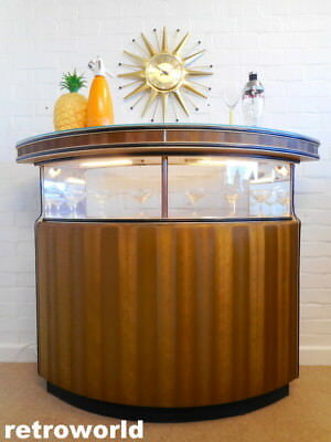 VERY COOL 60s 70s Mid Century Retro Vintage Cocktail Drinks Cabinet Bar Unit