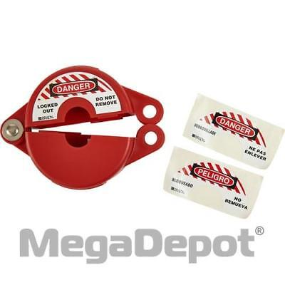 "Brady 65560, 3.12"" Red Polypropylene Gate Valve Lockout"
