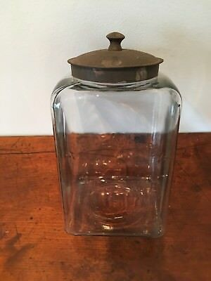 Rare W.g.dean & Son New York Licorice Jar Embossed With Metal Lid