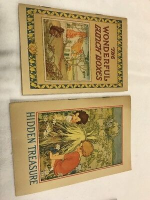 Vintage 1925 Books Advertising Post Cereal Picture Books