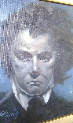Ludwig van Beethoven by Oscar Bardi, Trieste: Nocturne, Blue Starry Night, 1962