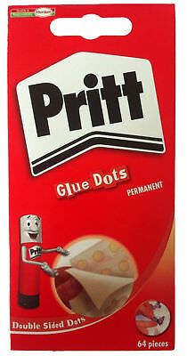 Pritt Glue Dots Permanent Pack of 64 x 12 Brand New