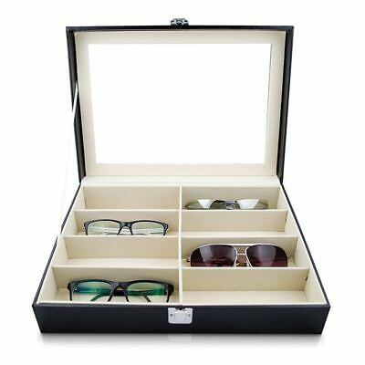 Eyeglass Sunglass Storage Box Imitation Leather Glasses Display Case Storag E5O3