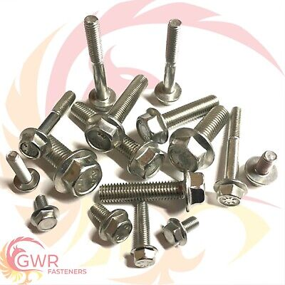 M5,M6,M8,M10 Flanged Hexagon Head Bolts - Flange Hex Screws - A2 Stainless Steel