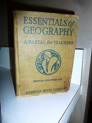 Essentials of Geography Early Edition 1921 Brigham and McFarlane (Accept/Good)