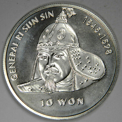 2001 KOREA GEN. RI SUN SIN ~ 10 WON 1 oz .925 FINE SILVER ~ PRICED RIGHT!