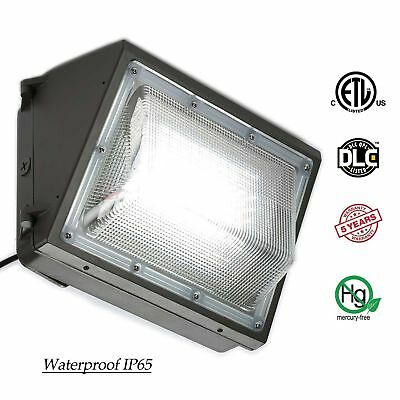 70W 100W 125W LED Wall Pack (+-Dusk to Dawn) Outdoor Light Fixture, 5500K White
