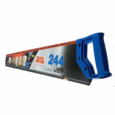"Bahco Hard Point Hand Saw 244P 22"" 550mm Hand Saw Panel 244 MEDIUM CUT"