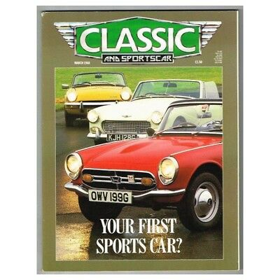 Classic and Sportscar Magazine March 1988 MBox3092/C Your first sports car?