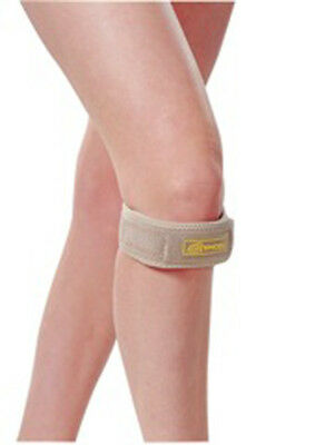 PATELLA TENDON KNEE STRAP, KNEE BRACE, 1-Size-Fits-All, Knee Support, Beige NEW