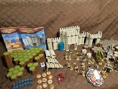 Mixed Lot Heroscape Game Pieces-Figures,Hexes and......more