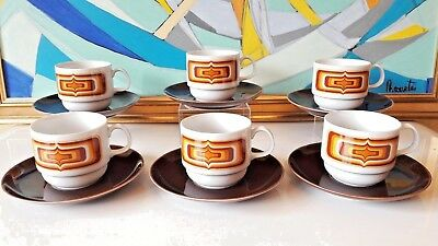 Ensemble Germany Porcelaine Vintage design 70'