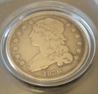 1836 25C Capped Bust Quarter. Free Shipping.