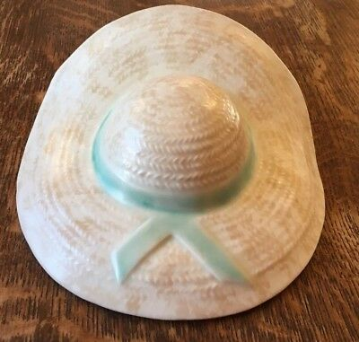 Vintage Straw Hat Wall Pocket Vase