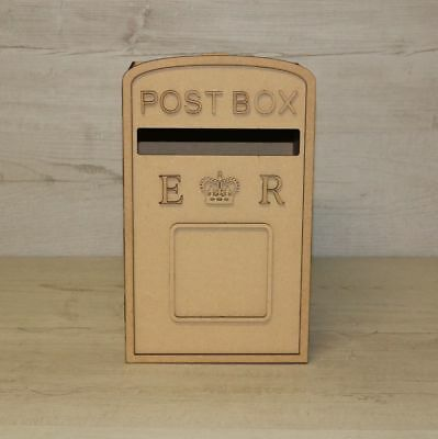 Wedding Post Box Royal Mail Styled Mdf Craft Kit Unpainted Letter