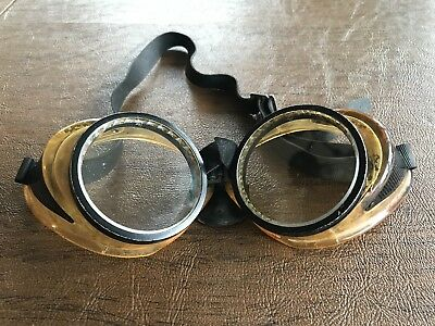 Vintage AO Safety Goggles American Optical Motorcycle Aviator Steampunk Glasses