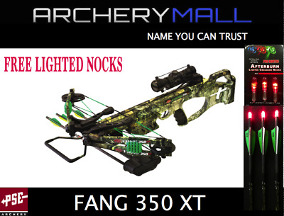 2018 PSE FANG XT CROSSBOW PACKAGE COUNTRY CAMO 350fps with FREE LIGHTED NOCKS