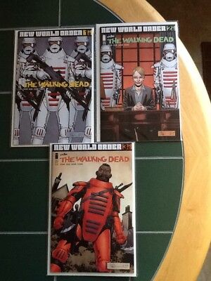 "Three (3) The Walking Dead Image Comics Issues 175,176,177 ""New World Order"""