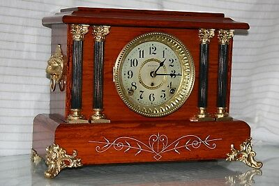 ANTIQUE SETH THOMAS SHELF MANTLE CLOCK-Totally!!-Restored-- C/1899