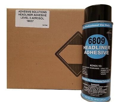 V&S #6809 Headliner Spray Adhesive NOT FOR SALE IN CALIFORNIA Case with 12 cans
