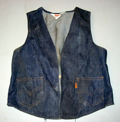 Vintage 1970s childs womans Levi Denim Vest