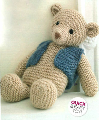 bear in a bag toy knitting pattern 99p