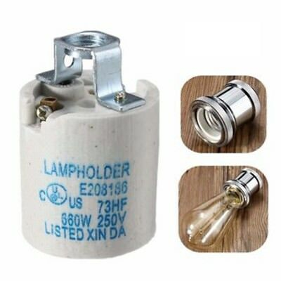E27 Ceramic Lamp Holder LED Light Bulb Socket Accessory Screw Cap Adapter Conver