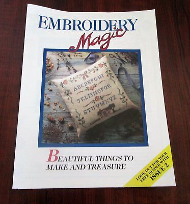 EMBROIDERY MAGIC No 1 - 6 Designs with Iron-on Patterns Creative Embroidery