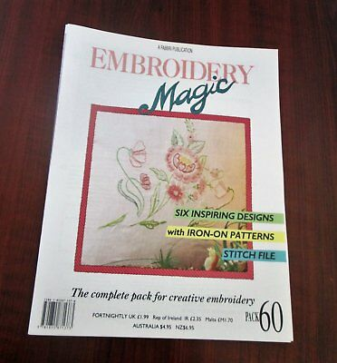 EMBROIDERY MAGIC No.60 - 6 Designs with Iron-on Patterns Creative Embroidery
