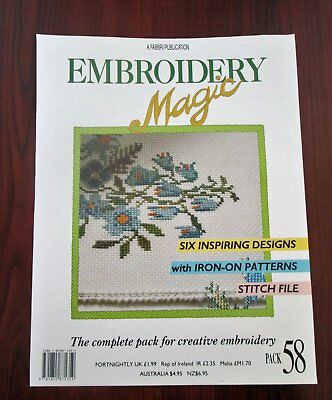 EMBROIDERY MAGIC No.58 - 6 Designs with Iron-on Patterns Creative Embroidery