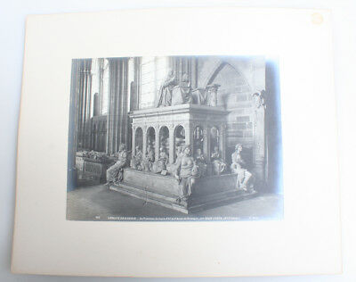 8X11 Albumen Photo Of The Tomb Of Louis Xii In Basilica St Denis - Paris, France
