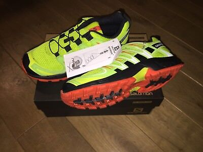 Salomon XA Pro 3D J Lime Punch Black Scarlet Ibis Kinder Schuhe Grün Orange