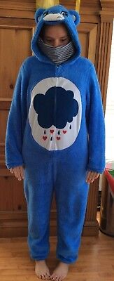 Care Bear Grumpy {Union Suit, Pajamas, PJs, (No Feet), Costume} Blue; Mens XLG