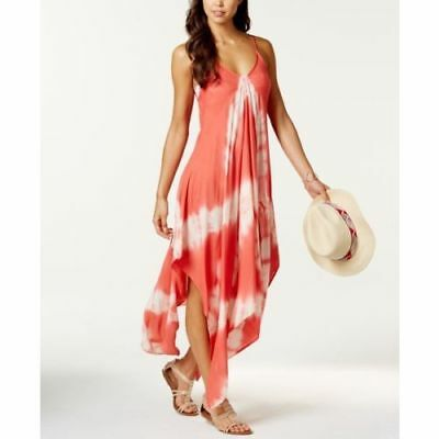 NEW Raviya  Coral Tie Dye Handkerchief Hem Swimsuit Cover Up Dress Size S Small