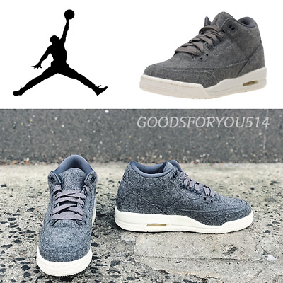 f9e84d6a28c34f Air Jordan 3 Retro Gs Wool 861427-004 Sz 6.5