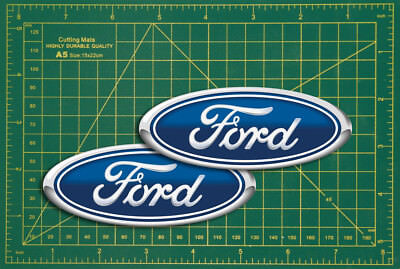 Ford badge replica Logo Replica Rally Touring Car STICKER Pair Race Bike Classic