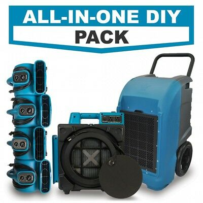 Water Damage Restoration EXPRESS DIY COMBO w/ HEPA Air Scrubber & Air Movers